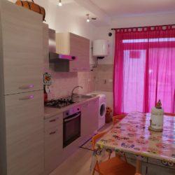 La zona living della casa in affitto a Campo di Giove in Via San Matteo